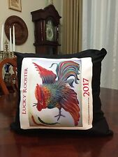 Lucky Rooster 2017 Decorative Pillow