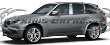 2007-2013 BMW X5/X-5 Chrome 6Pc Pillar Post Stainless Steel Trim Door Cover