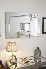 Large Brand New Modern Stunning Crystal glass Wall Mirror bevelled mirror