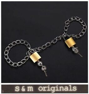 Bondage hand cuffs ankle collar chain shackles restraints role play kit  NEW edt
