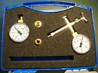 Pumpenprüfkoffer für Ölbrennerpumpe Manometer Vakuummeter Entlüftungsarmatur 1/8