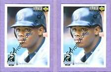 Two (2) card lot of 1994 Upper Deck Collector's Choice #P50 Ken Griffey Jr Promo
