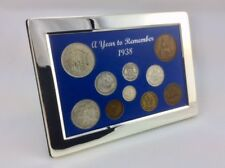 80th Birthday Gift - 1938 Luxury Silver Framed Coin Year Boxed Gift Set