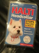 Halti Dog Head Collar Small Breed Dog Size 0 Stop Pulling Kindly Snout Black NEW