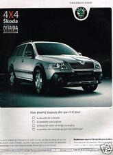 Publicité advertising 2007 Skoda Octavia 4X4