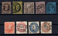 P135639/ OLD GERMANY - SAXONY – YEARS 1851 - 1867 USED CLASSIC LOT – CV 179 $