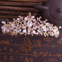 Fashion Wedding Baroque Crystal Crown Tiaras Hair Jewelry Headband Flower Bridal