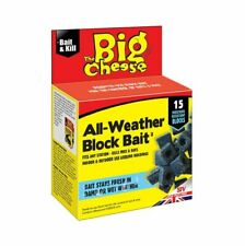 The Big Cheese All Weather Block Bait - 15 Pack - For Rat & Mouse Bait Stations