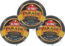 3 Pack - Kiwi Black Small Parade Gloss 1-1/8oz. Premium Shoe Polish