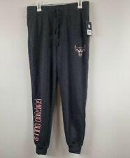 Nba Official Chicago Bulls Black Logo Sweat Pants Size M Charcoal
