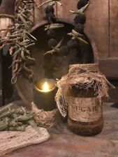 Primitive Pantry Jar Grubby SUGAR Homestead Cupboard Tuck Early Look Farmhouse