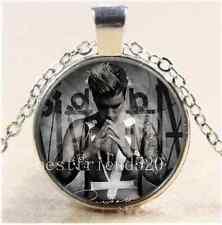 Justin Bieber Photo Cabochon Glass Tibet Silver Chain Pendant Necklace