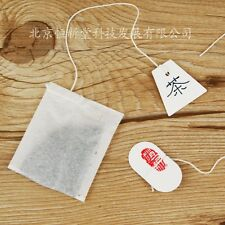 100 pieces blank paper tags + string, DIY Tea bag tags, in shape of Trapezoid
