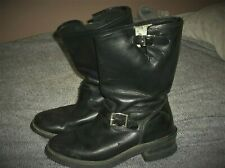 VINTAGE HARD TO FIND ROCKY BIKER-HARNESS-ENGINEER BOOTS 9 1/2W GOOD USED COND.