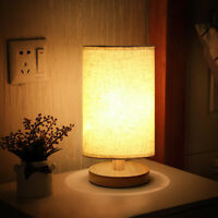 USB Table Lamp Bedside Wood Night Light suitable family bedroom dormitory office