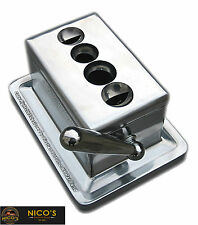 Quad Table Cigar Cutter Desktop Stainless Steel New In Box / FREE SHIPPING