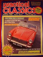 Practical Classics - Aug 1985 - Vol 6 #4 - Sceptre - Spridget - Land rover