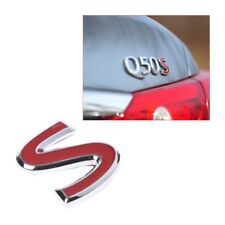 S Red Metal Emblem Badge Sticker for Infiniti Q50 Q50L Q30 Q70