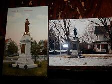 PUTNAM CT - CIVIL WAR - SOLDIERS MONUMENT - OLD Postcard plus MODERN PHOTO