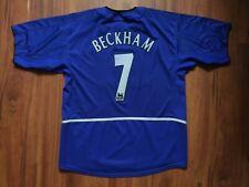 MANCHESTER UNITED FOOTBALL SHIRT 2002-2003 BECKHAM #7 SIZE XL