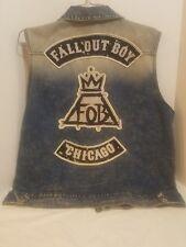 Rare Fall Out Boy Men's x Large Rock Jean Denim Jacket Vest  concert Gift