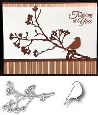 Memory Box cutting dies BUNDLE Blooming Branch & Gold Finch bird metal die set