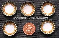 10 x KRITTERKILL COCKROACH GEL BUSTER BUTTONS - BAIT STATION - KILLER - RAPID