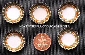 10 x KRITTERKILL COCKROACH GEL BUSTER BUTTONS - BAIT STATION - KILLER - RAPID