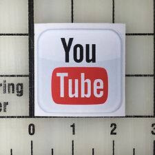 "YouTube Logo 2"" Wide Multi-Color Vinyl Decal Sticker - 4 Stickers Total"