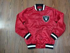 NWT OAKLAND RAIDERS STARTER red Jacket size medium satin black label