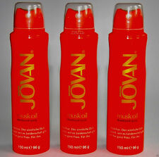 Jovan Damendüfte Musk Oil Deodorant Spray   3 x 150 ml  (EUR 5,31 / 100 ml)