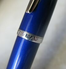 MAGNIFIQUE STYLO PLUME WATERMAN CARENE LAQUE BLEU ROYAL - PLUME OR MASSIF 18 CTS