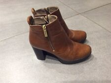 Russell & Bromley Tan Leather Ankle Boots Size 5