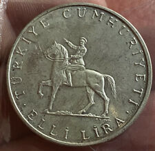 Turkey 50 Lira Silver High Grade AUNC