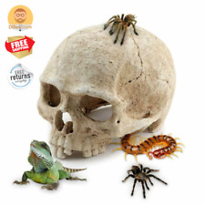 Reptile Cage Decorations Skull Hideout Cave for Lizard Iguana Snake And more