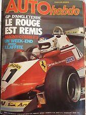 AUTO HEBDO 123 / JUIL 78 : GP ANGLETERRE MAGNY COURS F3