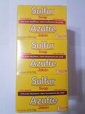 12 BARS SULFUR SOAP WITH LANOLIN FOR ACNE TREATMENT GRISI  NET WT 4.4 OZ EACH