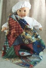 """Doll Clothes Baby Made 2 Fit American Girl 15"""" Bitty Boy Bunting Blanket Beret'"""