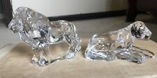 1976 Franklin Mint Animals Of The Ark Lions Pair Two By Two Noah Crystal Box
