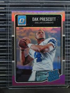 2016 Optic Dak Prescott Pink Prizm Rated Rookie RC #162 Cowboys G54
