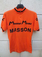 VINTAGE Maillot cycliste orange 70's DOL de BRETAGNE Monsieur Meuble MASSON M
