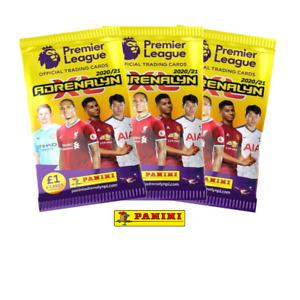 Panini Premier League 2020/21 Adrenalyn XL Trading Card Packs - 1,2,3,5,10,20,50