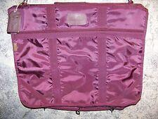 Vintage PIERRE CARDIN burgundy canvas garment suit bag luggage travel lock key