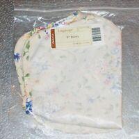 """Longaberger Spring Floral BOWL Basket Liner 9"""" inch ~ Brand New in Original Bag!"""