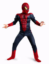 SPIDERMAN Costume with WEB SHOOTERS Muscle arms + Child Size L (10-12)BRAND NEW