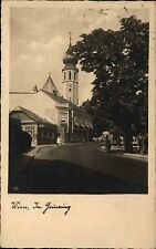 Wien Österreich Austria AK ~1933/45 Im Grinzing Straße Kirche Bäckerei Geschäfte