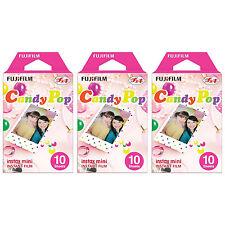 3 Packs 30 Photos Candy Pop FujiFilm Fuji Instax Mini Film Polaroid 7S 8 25 Sp-1