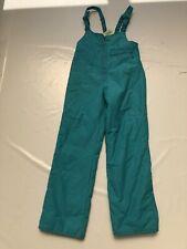 """Ladies Vintage 80's  Turquoise Ski Salopettes SZ Waist 26"""" #375"""