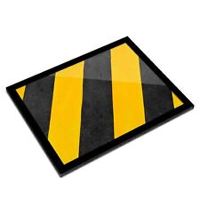 A3 Glass Frame - Caution Construction Pattern Art Gift #14616