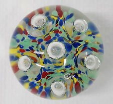 Vintage Gentile Art Glass Liberty Multi-color Paperweight